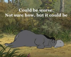 Eyore looking depressed